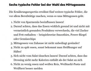 Die Aufzählung im Text ist übersichtlich (Screenshot Stern.de)